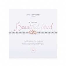 Joma Jewellery A Little BEAUTIFUL FRIEND Silver Plated Beaded Bracelet